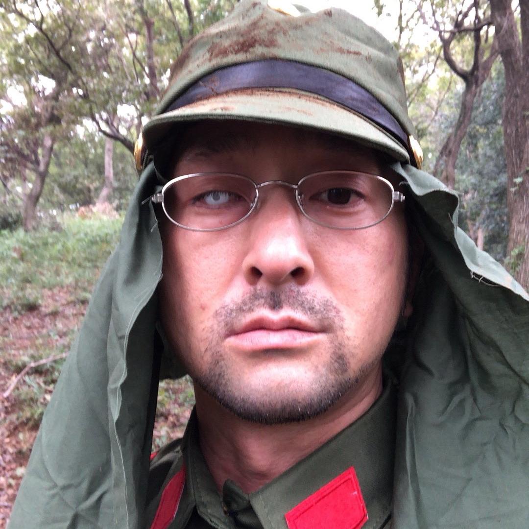 日本兵に扮する夏目大一朗